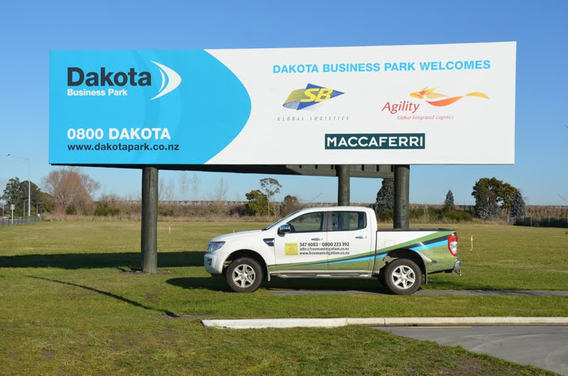 Dakota Business Park at Christchurch International Airport fully automated irrigation system including street berms, trees and gardens.
